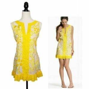 J. CREW Yellow Floral Tunic Swim Cover Up